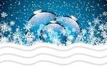 Blå julbakgrund Arkivfoto