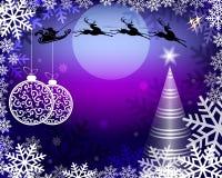 Blå julbakgrund royaltyfri illustrationer