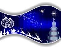 blå juldesign stock illustrationer
