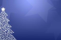 Blå julgran Royaltyfri Bild