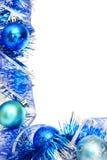 Blå julkant Royaltyfri Foto