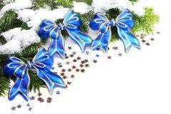 blå jullivstid för bollar fortfarande Royaltyfria Foton