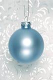 blå julprydnad Royaltyfri Bild