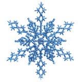 blå julprydnadsnowlfake Fotografering för Bildbyråer