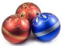 blå julred tre för bollar Royaltyfri Foto