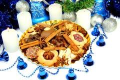Blå julskönhet Arkivbild