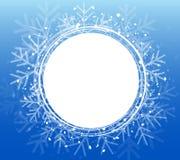 Blå julsnöflingakrans Vektorillustration EPS10 Arkivfoton