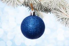 Blå julstruntsak Royaltyfri Foto
