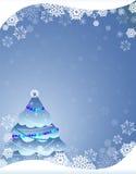 blå jultree Royaltyfria Bilder