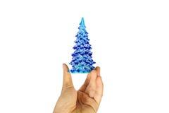 blå jultree Arkivbilder