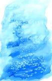 Blå julvattenfärgbakgrund med Royaltyfri Foto