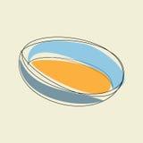 Blå kökbunke Arkivbilder