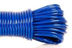 Blå kabel fotografering för bildbyråer