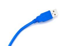 blå kabelusb Royaltyfri Bild