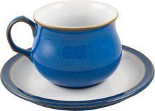 blå kaffekopp Arkivbild