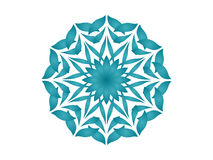 blå kaleidoscope Arkivfoto
