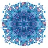 blå kaleidoscope Arkivbild
