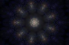 Blå kalejdoskop Royaltyfri Foto