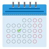 Blå kalender med en tydlig dag royaltyfri illustrationer