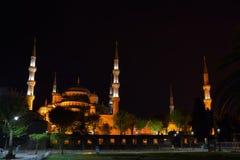 blå kalkon för istanbul moskénatt Arkivfoto