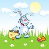 Blå kanin för påsk Fotografering för Bildbyråer