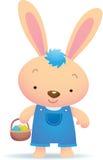 blå kanin gulliga easter Arkivfoton