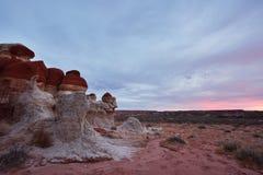 Blå kanjon, avsnitt av Moenkopi Wash i nordostliga Arizona Arkivfoton