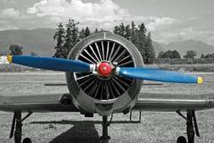 blå kantjusteringsdammtrasapropeller Arkivfoto