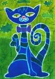 blå katt Royaltyfri Fotografi