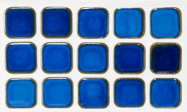blå keramisk minitegelplatta Fotografering för Bildbyråer