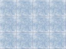 blå keramisk tegelplatta Royaltyfri Bild