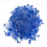 Blå kiseldioxid stelnar Arkivfoton
