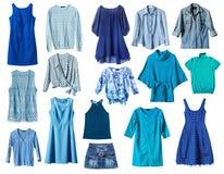 blå kläder royaltyfri fotografi