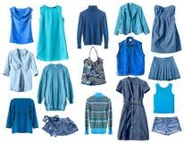 blå kläder royaltyfri bild