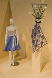 blå klänning Arkivbilder