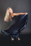 Blå klänning Royaltyfri Foto