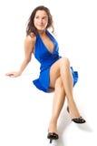blå klänning Royaltyfri Fotografi
