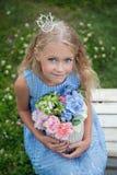 blå klänningmaike royaltyfria foton