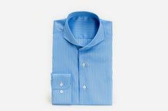 Blå klänningskjorta arkivfoto