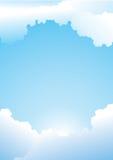 blå klar sky för bakgrund Royaltyfri Bild