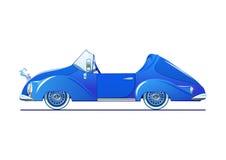 Blå klassisk cabriolet royaltyfri illustrationer