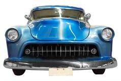 Blå klassisk tappningbil Arkivbilder