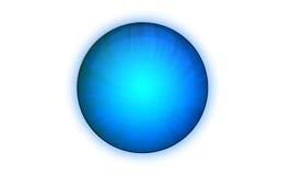 blå knapp Arkivbilder