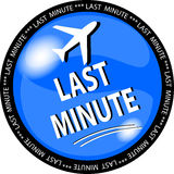 blå knapp sista minut royaltyfri illustrationer