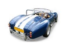 Blå kobrasportbil Arkivfoto