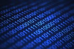 blå kod Arkivbilder