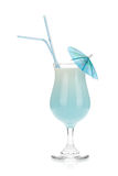 Blå kokosnötkrämcoctail Royaltyfri Foto