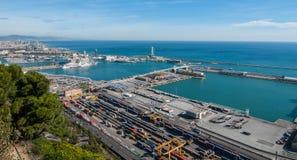 Blå kommers i Barcelona arkivfoton