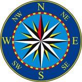 blå kompass royaltyfri illustrationer