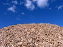 blå komposttäckning pieces skyträ Royaltyfri Fotografi